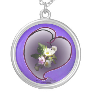 wildflower heart pendant