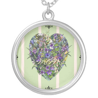 Wildflower Heart Pendant