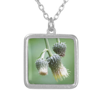 wildflower in the meadow square pendant necklace