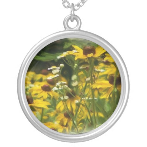 wildflower personalized necklace