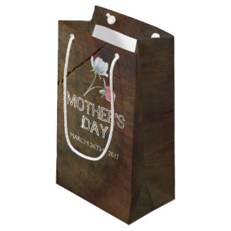Wildflower Oak Wood Mother's Day Small Gift Bag