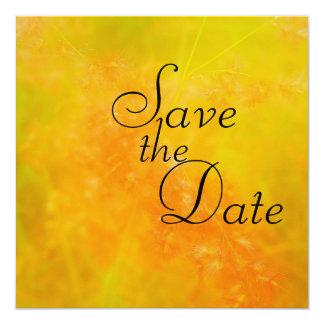 Wildflower Orange Wedding Announcements