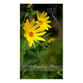 Wildflower Salon & Spa Floral Business Cards
