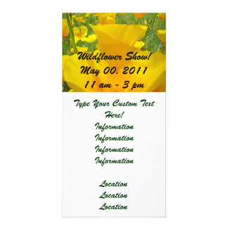 Wildflower Show Annoucement Event Invitations Photo Greeting Card