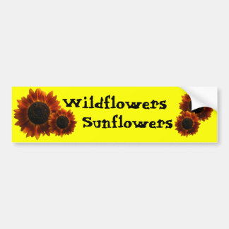 Wildflower Sunflowers Bumper Sticker
