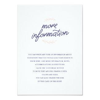 Wildflower Wedding Insert 11 Cm X 16 Cm Invitation Card