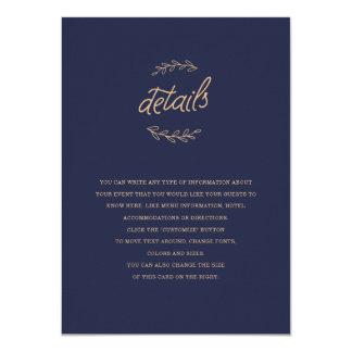 Wildflower Wedding Insert Card