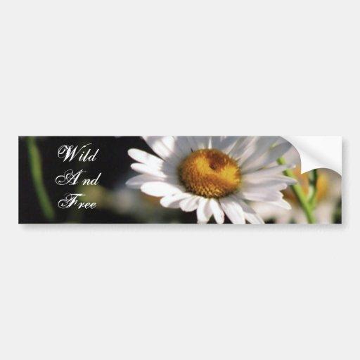 Wildflower, Wild And Free Bumper Sticker