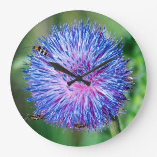 Wildflower With Leaf Beetles Large Clock
