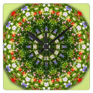 Wildflowers, 01.02 Flower-Mandala Wall Clock