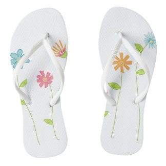 Wildflowers Adult, Slim Straps Flip Flops