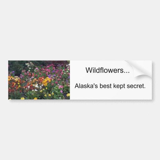 Wildflowers, Alaska Bumper Stickers