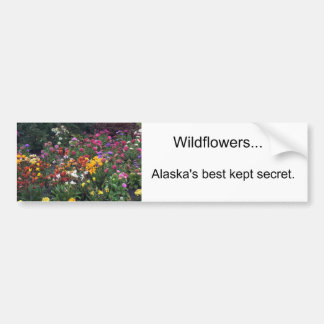 Wildflowers Alaska Bumper Stickers