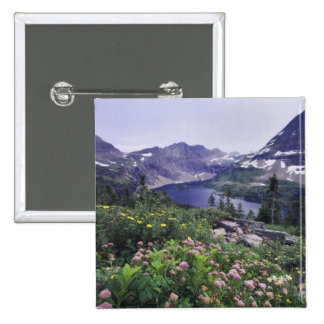 Wildflowers and Hidden Lake, Shrubby 15 Cm Square Badge