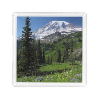 Wildflowers at Mount Rainier Acrylic Tray