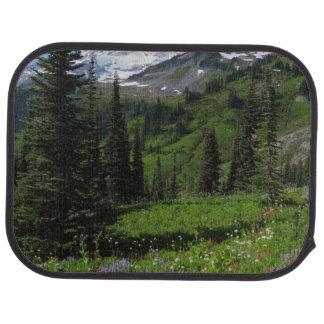 Wildflowers at Mount Rainier Car Mat