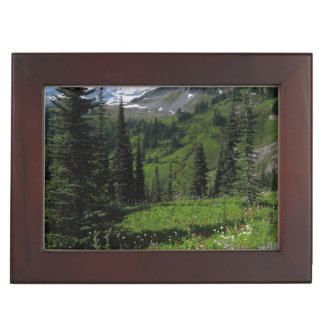 Wildflowers at Mount Rainier Keepsake Box