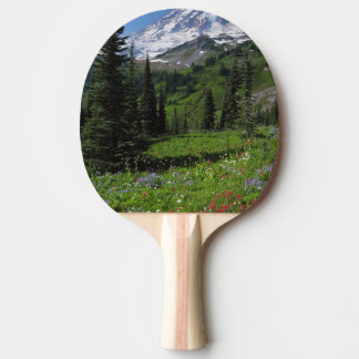 Wildflowers at Mount Rainier Ping Pong Paddle