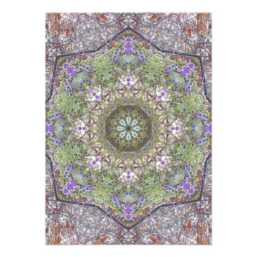 Wildflowers Autumn Forest Mandala Custom Announcement
