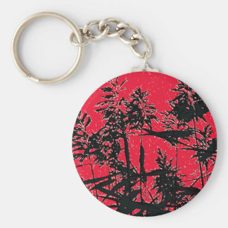 WILDFLOWERS BASIC ROUND BUTTON KEY RING