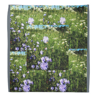 Wildflowers cornflower bandana grey blue green