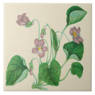 Wildflowers Country Kitchen Ceramic Tile Violets