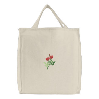 Wildflowers Embroidered Tote Bag