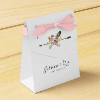 Wildflowers Feathers and Arrow Favour Box