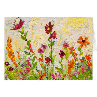 """Wildflowers"" (horizontal) Note Cards"