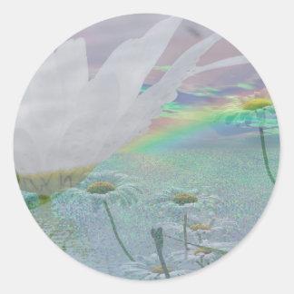 Wildflowers in 3d classic round sticker