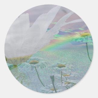 Wildflowers in 3d round sticker