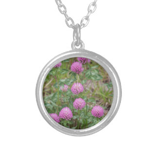 wildflowers in the filed silver plated necklace