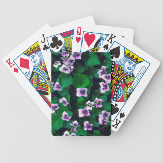Wildflowers in the forest bicycle playing cards