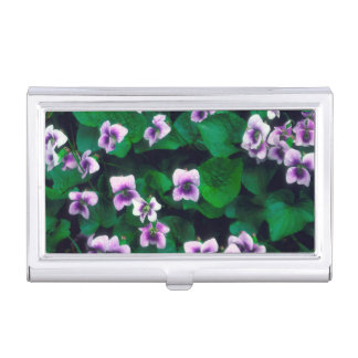 Wildflowers in the forest business card cases