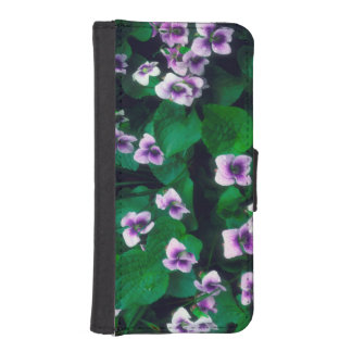 Wildflowers in the forest iPhone SE/5/5s wallet case