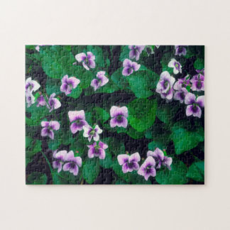 Wildflowers in the forest jigsaw puzzle