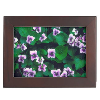 Wildflowers in the forest keepsake box