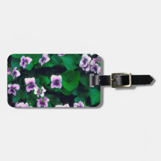 Wildflowers in the forest luggage tag