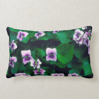 Wildflowers in the forest lumbar cushion