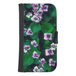 Wildflowers in the forest samsung s4 wallet case