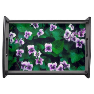 Wildflowers in the forest serving tray