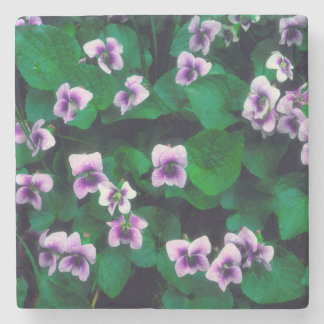 Wildflowers in the forest stone coaster