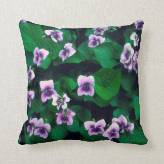Wildflowers in the forest throw pillow