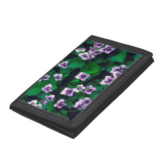 Wildflowers in the forest tri-fold wallet