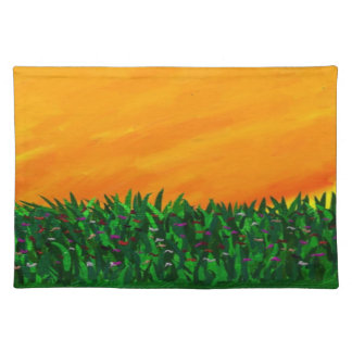Wildflowers in the Sunset Abstract Placemats