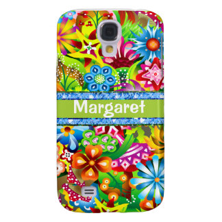 Wildflowers In Vivid Colors Personalized Galaxy S4 Cases