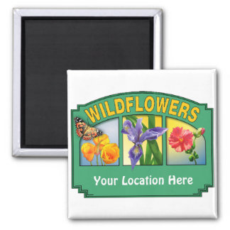 Wildflowers Magnet Customizable