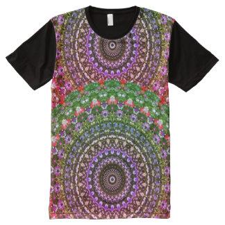 Wildflowers Nature 02.F, Flower-Mandala All-Over Print T-Shirt