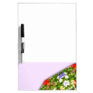 Wildflowers Nature, Flower-Mandala Dry-Erase Board