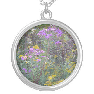 Wildflowers on a Sliver Pendant